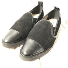 KARL LAGERFELD Cler Black Suede/Leather Slip On Casual Loafers Women's Sz 38/7.5