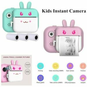1080P Kids Instant Print Digital Camera Video+Photo Paper +16GB Card For Child