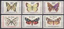 CZECHOSLOVAKIA 1966 **MNH SC# 1391 - 1396  The Butterflies and Moths