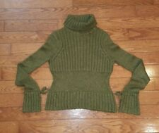 ILLIG Silk Mohair Soft Cowl Neck Green Sweater Sz M