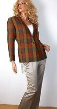 Karierte hüftlange Damenjacken & -mäntel aus Wolle mit Knöpfen
