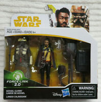 STAR WARS FORCE LINK 2.0 KESSEL GUARD & LANDO CALRISSIAN FIGURES NIB NEW