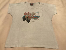 Vintage 3D Emblem Harley Davidson Ft. Lauderdale Florida Shirt Womens Medium