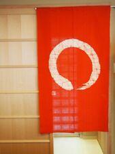 Kyoto Enso Noren Door curtain Roketsu dye Batik Red Made in Japan 85 x 150 cm