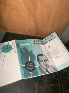 1960 Visitors Guide To New York Events Mayor Wagner Manhattan Map New York City