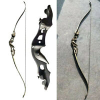 """58"""" 20-55lbs Archery Recurve Bow Takedown Aluminum Bow Riser Hunting Fishing"""