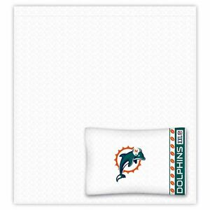 NFL Miami Dolphins Twin 3 Piece Comforter Bedding Team Logo Bed in Bag Set