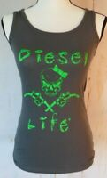 Lady Trucker Tank Top Diesel Life Size S Next Level Apparel