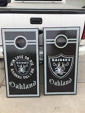 Raiders Corn Hole Boards - Bean Bag Toss Game