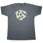 Gretsch 45Rpm Tee Shirt Heathered Charcoal Medium 922-4576-506