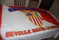 BANDERA   FUTBOL DEL SEVILLA F.C. SEVILLA HASTA LA MUERTE VINTAGE COTIZADA FLAG
