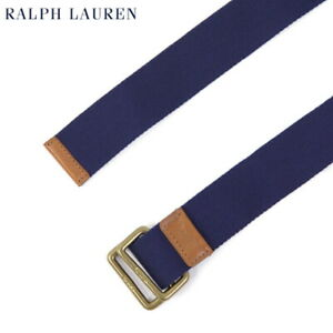 Polo Ralph Lauren Cotton Ring Belt w/ square ring - Navy - Size: Large