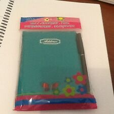 SOFT COVER   GREEN   ADDRESS BOOK WITH PEN BRAND NEW IN PACKET