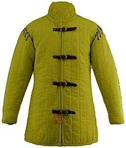 MEDIEVALCRAFTS Medieval Thick Padded Gambeson Aketon Coat Armor Cotton SCA LARP