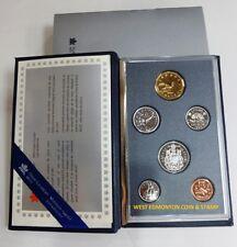 1991 SPECIMEN SET - ROYAL CANADIAN MINT 6-COIN SET - ORIGINAL CASE & CERTIFICATE