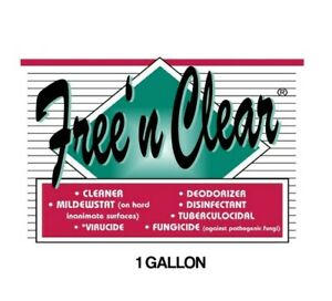 4 x 1 GALLONS FREE 'N CLEAR DISINFECTANT  DIAMOND CHEMICAL CO.