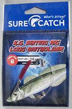 Surecatch 691KWRB62 KG Whiting Rig - Long Baitholder #6 Trace 14lb