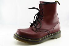 Dr. Martens Size 7 M Almond Toe Dark Red Combat Leather Boots