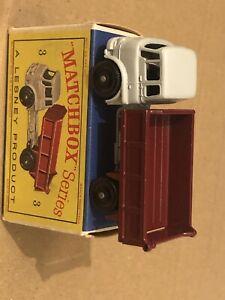 Matchbox #3 Bedford Tipper Truck Maroon Mint