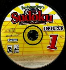 """PROFESSOR  FUJI'S  SUDOKU DELUXE - PC PUZZLE GAME - RATED """"E"""""""
