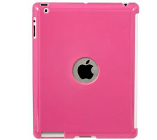 NEW Pink Hard Snap-On Shell High Gloss Skin Case Cover for Apple iPad 2 & 3
