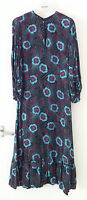 BELLA FREUD MISS SELFRIDGE maxi dress black green purple 30s floral UK 10 unworn