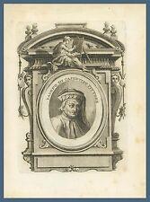 Iacopo di Casentino Pittore Pratovecchio Arezzo Landino Vasari '700 incisione