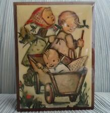 REUGE Swiss Music & Trinket Box HUMMEL Kids & Wagon Italy, Gorgeous Piece !