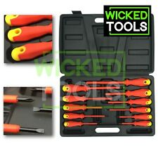 11pc Insulated Electrical Screwdriver Set Electrician Slotted Phillips Tool Case