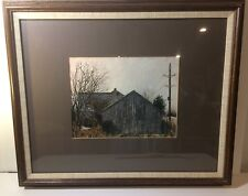 "Original Oil on Canvas Painted By P Ream 1985 19"" x 23"" Old Pennsylvania Barn"