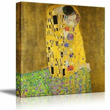 "Wall26 - ""The Kiss"" by Gustav Klimt - Golden Phase - Canvas Art Home Decor-24x24"