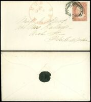 """DEC 24 1866c BOSTON Mass. CDS Cover to Philly, Wax Seal, """"PAID"""" Cancel, SC #11A!"""