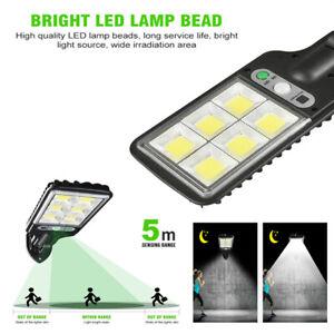360° Solar LED Wall Street Light Lamp PIR Sensor Control Lamp Waterproof Outdoor