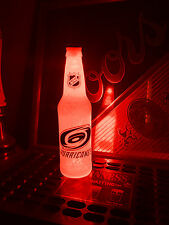 NHL Carolina Hurricanes Hockey 12 oz Beer Bottle Light LED Bar Man Cave