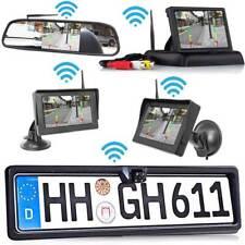 Rückfahrkamera mit Nummernschild + Monitor für PKW Auto bus Transpoter KABELLOSE