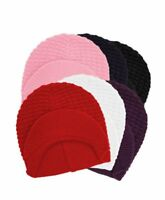 Ladies' Solid Color Winter Hat with Visor (LH1005)