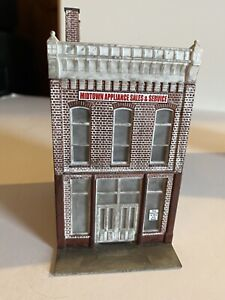 HO Scale Train Built-up Store Front Brick Building Midtown Appliance Sales Nice!