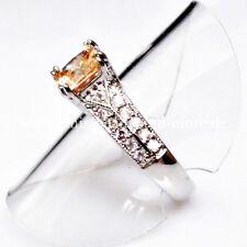 Echte Edelstein-Ringe mit Prinzess für Damen
