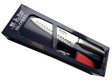 Global Messerset Schleifset G-48220BR Santoku mit Kullen G-48 und Schleifer