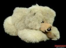 Vintage Steiff Molly Grizzly Bear 0333/35 Laying Stuffed Animal Yellow Tag