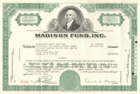 Madison Fund, Inc. > Delaware old stock certificate share