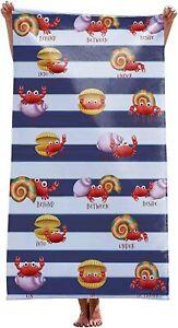alottagifts Crab Thoughts Microfiber Sand Free Beach Towel Bath Towel