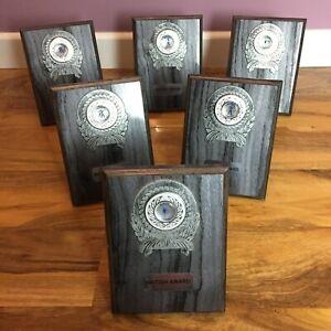 Bundle of 6 Dance Dancing Award Trophy Plaques, British Award Trophies