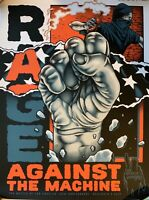 Rage against the machine poster bola battle of la 20th 57/155 limited edition