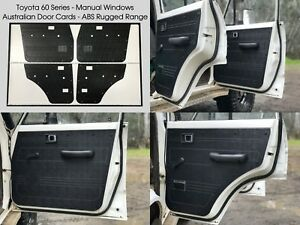 Toyota Land Cruiser 60 Series Manual ABS Door Panels Rugged & Waterproof - Black