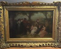 Listed Artist 19th Century Painting With Antique Frame Listed Artist A.Elmofge