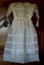 Jolie robe de communiante ancienne organdi jupon et aumonière