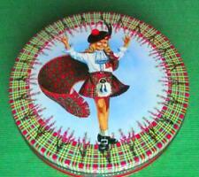 More details for c1950 edinburgh peak frean shortbread bonnie lassie tartan tartanware tin b