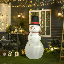 6ft Giant Inflatable Snowman Christmas Decoration w/ LED Lights Accessories