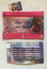 Disney Frozen Pencil Pouch & 6 Pop-Up Pencils Elsa, Anna School Gift Set New